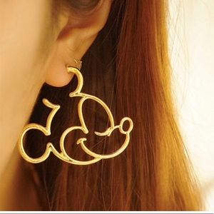 Mickey Mouse Gold Earring
